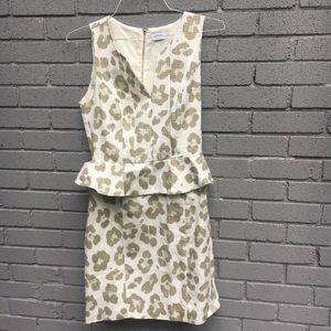 ELORIE cheetah print peplum dress small